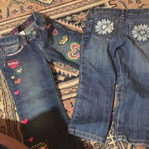Like new Lot of little girl jeans - size 3